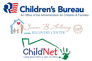 Children's Bureau. Susan B. Anthony, and ChildNet Logos
