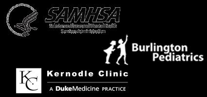 SAMHSA, Burlington, and Kernodle Logos.